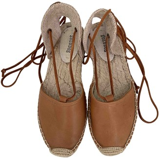 Soludos Camel Leather Espadrilles