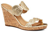 Jack Rogers Luccia Leather & Patent Leather Wedge Sandals