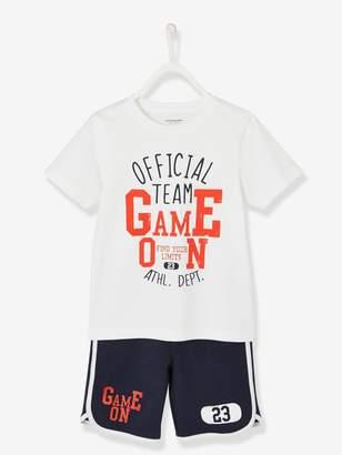 Vertbaudet Sports Combo for Boys: T-Shirt & Bermuda Shorts