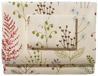 L.L. Bean Botanical Floral Flannel Sheet Collection