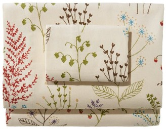 L.L. Bean L.L.Bean Ultrasoft Comfort Flannel Sheet Collection, Botanical Floral