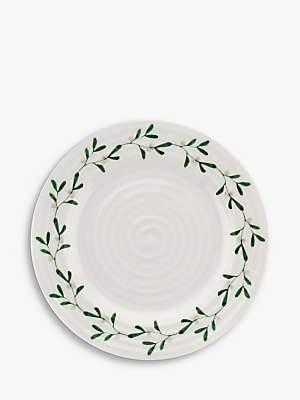 Sophie Conran for Portmeirion Mistletoe Side Plate, 20cm, White/Multi