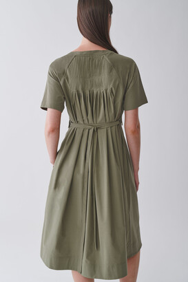 Cos Cotton Dress With Pleated Detail