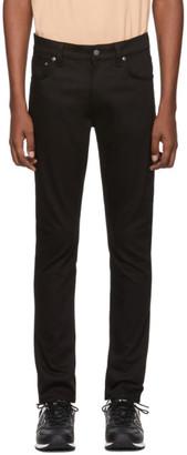 Nudie Jeans Black Lean Dean Dry Jeans