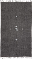 Julius Black Linen Print Scarf