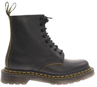 Dr. Martens 1460 Double Stitch Leather Ankle Boots Black