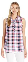 G.H. Bass & Co. Women's Linen Blend Plaid Shirt