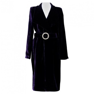 Azzaro Loris Purple Velvet Dresses