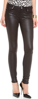Faux Crackle Leather Skinny Pants