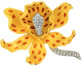 Kenneth Jay Lane Yellow/Brown Spots Orchid Pin Brooches Pins