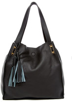 Sondra Roberts Distressed Leather Tote
