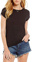 Free People Clare Cap Sleeve Fitted Tee