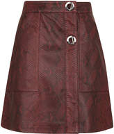 Whistles Bryony Snake Leather Skirt