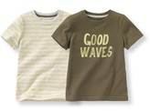 La Redoute Collections Pack of 2 T-Shirts with Good Waves Motif, 3-12 Years