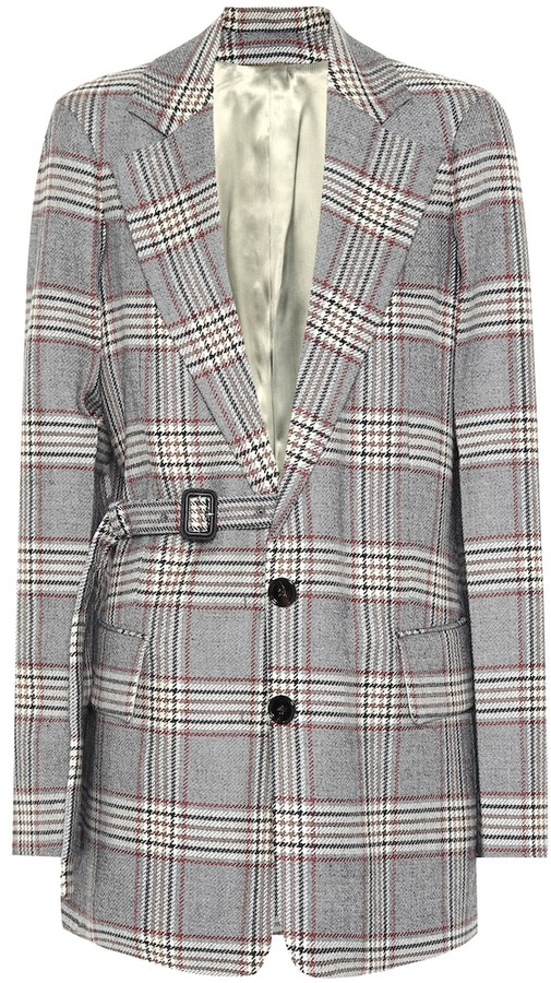 Joseph Gemina checked wool blazer