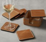 Pottery Barn Beckett Leather Coasters