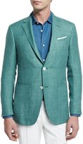 Ermenegildo Zegna Solid Half-Lined Blazer, Green