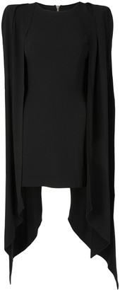 Alex Perry Tucker split-side structured dress