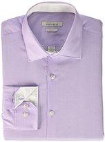 Perry Ellis Men's Slim Fit Adjustable Collar Perf Diamond Dobby Dress Shirt
