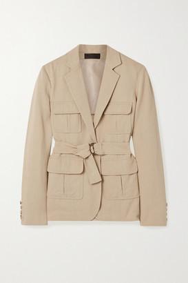 Nili Lotan Hunt Belted Twill Jacket - Beige