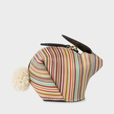 Paul Smith Signature Stripe Leather Rabbit Coin Pouch