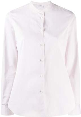 Aspesi collarless button down shirt