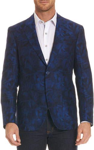 Robert Graham Buxons Floral-Pattern Linen-Blend Jacket