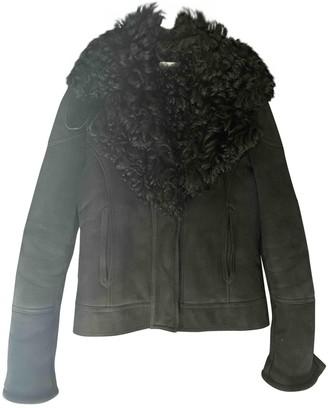 Gucci Blue Mongolian Lamb Leather jackets