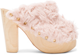 Brother Vellies FWRD Exclusive Curly Rabbit Fur Clogs