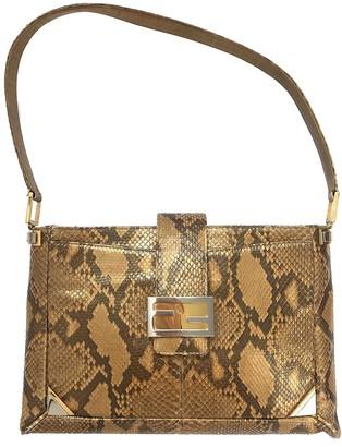 Fendi Gold Python Handbags