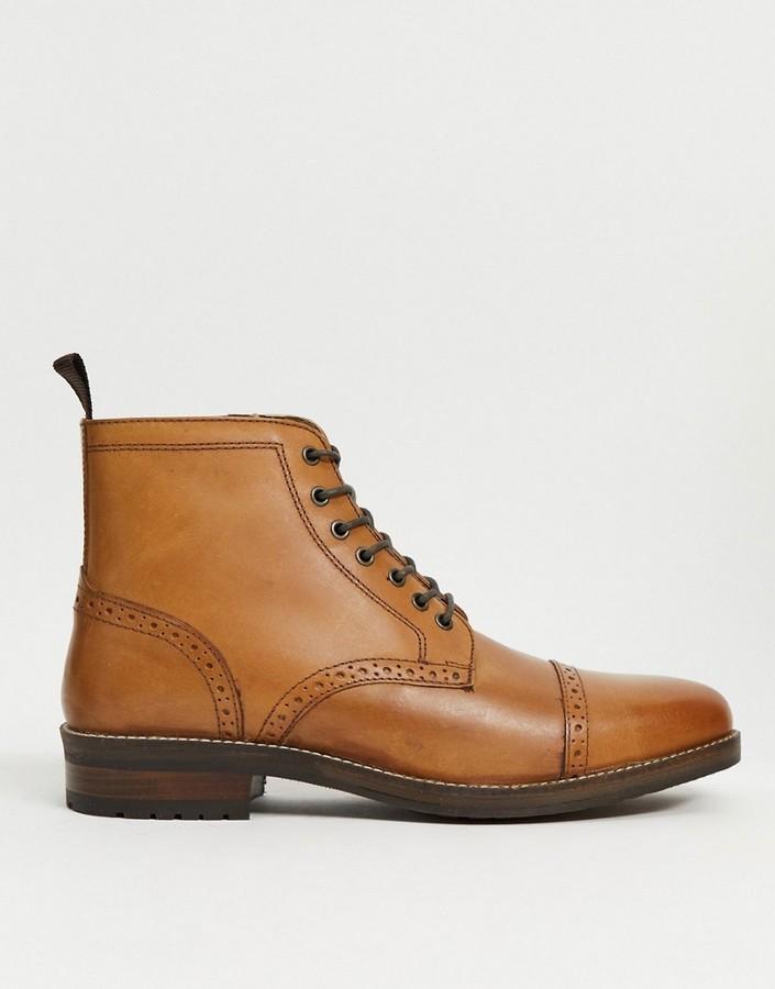 Mens Tan Brogue Boots | Shop the world