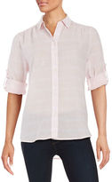 Lord & Taylor Plaid Button-Front Shirt