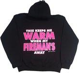 """Fishers Sportswear Fisher Sportswear Firefighter's Girl """"This Keeps Me Warm"""" Hooded Sweatshirt"""