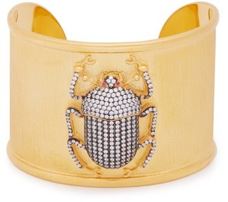 Begum Khan - Pharoah Crystal-embellished Gold-vermeil Cuff - Womens - Crystal