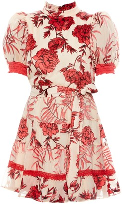 Alice + Olivia Regan Tiered Floral Mini Dress