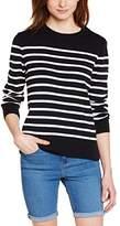 Armor Lux Women's Striped Long sleeve Jumper - Blue -