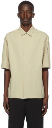 Bottega Veneta Beige Cotton Poplin Short Sleeve Shirt
