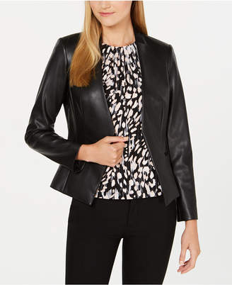 Calvin Klein Asymmetrical Faux-Leather Jacket
