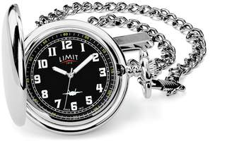 Limit Men's Silver and Black Pocket Watch