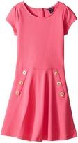 Tommy Hilfiger Solid Short Sleeve Pique Dress (Big Kids)
