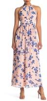 Eliza J Floral Halter Maxi Dress (Petite)