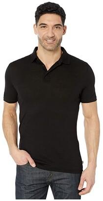 Helly Hansen Merino Light Short Sleeve Polo (Black) Men's Clothing