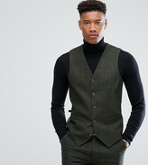 Gianni Feraud TALL Slim Fit Green Donnegal Wool Blend Suit vest