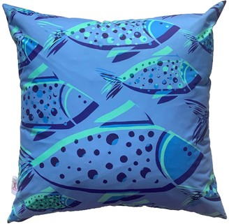 Chloe Croft London Limited Bubble Fish Weatherproof Outdoor Cushion