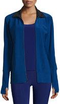 Norma Kamali Full-Zip Track Jacket, Blueberry