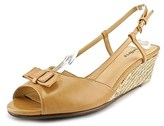 Trotters Milly N/s Open Toe Leather Wedge Sandal.