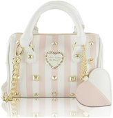 Betsey Johnson Heart Studs Mini Crossbody Satchel Bag