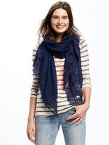 Old Navy Gauze Crochet-Lace Scarf for Women