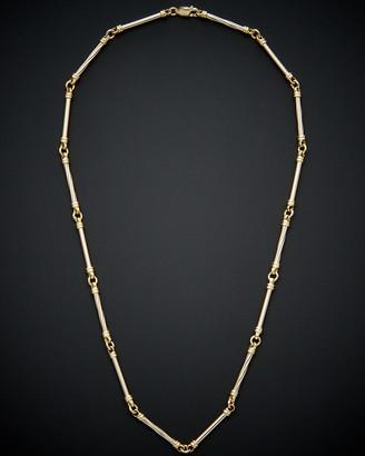 Italian Gold 14K Two-Tone Corinthian Necklace