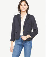 Ann Taylor Tipped Tweed Newbury Blazer
